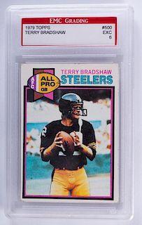 1979 Topps Terry Bradshaw Football Card (Graded)