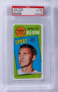 1970 Topps Jerry West All Star Basketball Card
