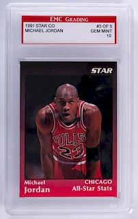 1991 Star Co. Michael Jordan Basketball Card