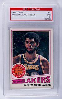 1977 Topps Kareem Abdul-Jabbar Basketball Card
