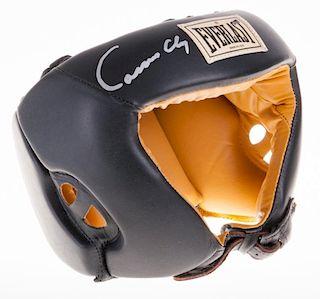 Cassius Clay Muhammad Ali Signed Headgear