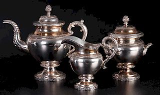 American Coin Silver Eoff & Connor Tea Service