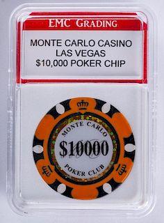Monte Carlo Casino $10,000 Poker Chip (Graded)