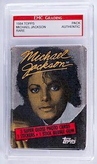 1984 Topps Michael Jackson Card Pack (Graded)