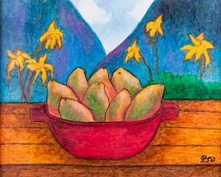 """Frances Paul Gauguin """"Frutero con Mangos"""""""