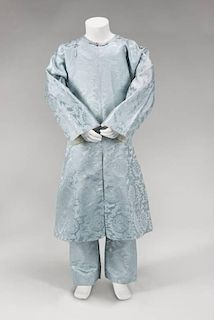 THE LAST EMPEROR PU YI PALE BLUE TUNIC AND TROUSER