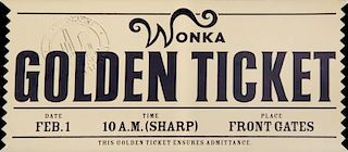 CHARLIE AND THE CHOCOLATE FACTORY GOLDEN TICKET