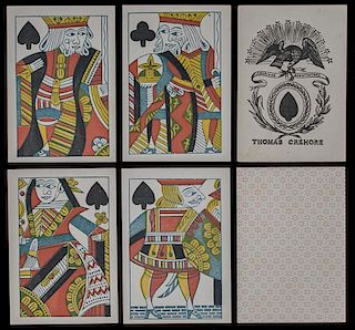 "Thomas Crehore ""American Manufacture"" Playing Cards."