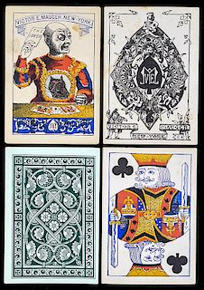 Victor E. Mauger Euchre Playing Cards.