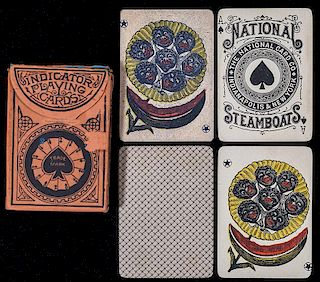 "National Card Co. ""Steamboats"" Playing Cards."