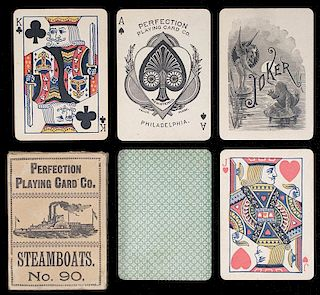 "Perfection Playing Card Co. ""Steamboats No. 90."""