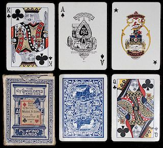 "New York Consolidated Card Co. ""Automobile #192"" Playing Cards."