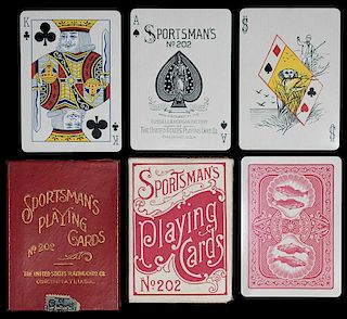 "United States Playing Card Co. (Russell & Morgan) ""Sportsman's No. 202"" Playing Cards."