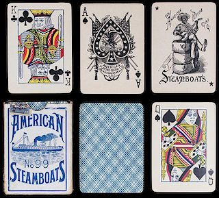 "The American Playing Card Co. ""No. 99 Steamboats."""