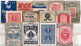 Group of 13 Vintage Playing Card Decks.
