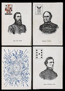 Mortimer Nelson Civil War Confederate Generals Playing Cards.