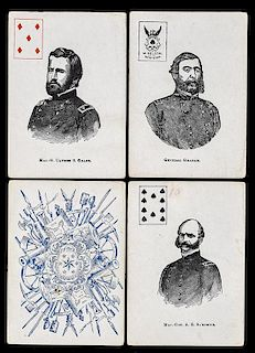 Mortimer Nelson Civil War Union Generals Playing Cards.