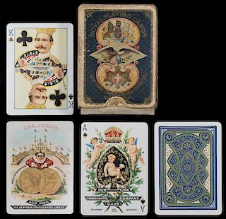 "New York Consolidated Card Co. ""Illuminated"" Royal Playing Cards."