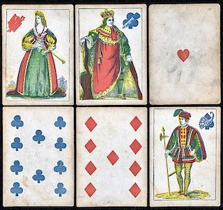"M. Nelson ""Illustrations from the Five Plays of Shakespeare"" Transparent Playing Cards."