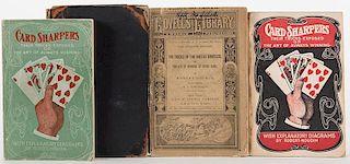 Robert-Houdin, Jean Eugene. Four Pulp Books on Card-Sharping.