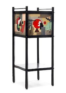 Paul Kelpe, (German/American, 1902-1985), a unique pipe cabinet, c. 1934