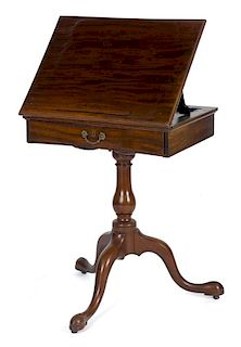 George II mahogany reading/music stand, ca. 1770, 30 1/2'' h., 24'' w. Provenance: Rentschler collec