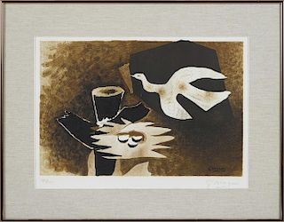 Georges Braque (French 1882-1963), lithograph titled L'Oiseau Et Son Nid (The Bird and its Nest)