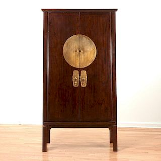 Chinese tall hardwood cabinet