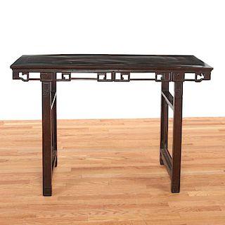 Large Chinese hardwood painter's table