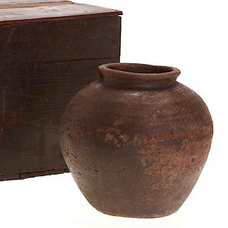 Chinese earthenware burial vase