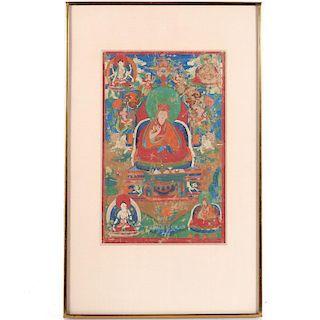 Tibetan School, Thangka painting