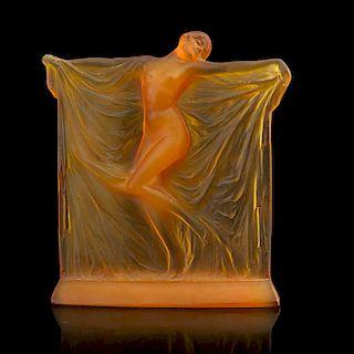 "LALIQUE ""Thaïs"" statuette, cased yellow glass"