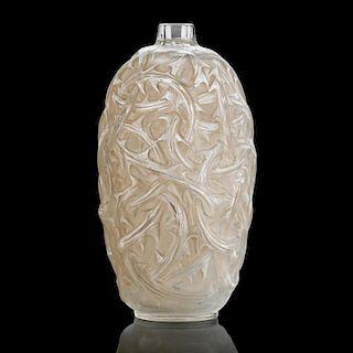 """LALIQUE """"Ronces"""" vase, clear glass"""