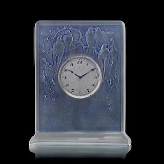"LALIQUE ""Six Hirondelles Perchées"" clock"
