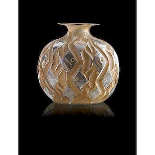 """LALIQUE """"Penthièvre"""" vase, clear glass"""