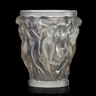 """LALIQUE """"Bacchantes"""" vase, clear glass"""