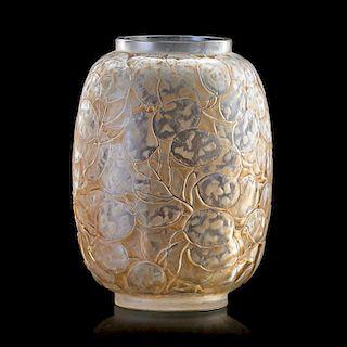 """LALIQUE """"Monnaie du Pape"""" vase, clear glass"""