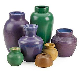 JUNIUS KREHBIEL; TECO Test vases and tiles
