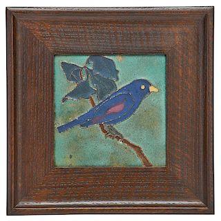 VAN BRIGGLE Bluebird tile