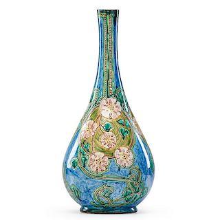 LIZA WILKINS; DELLA ROBBIA Tall vase