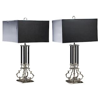 STYLE OF TOMMI PARZINGER Pair of large table lamps