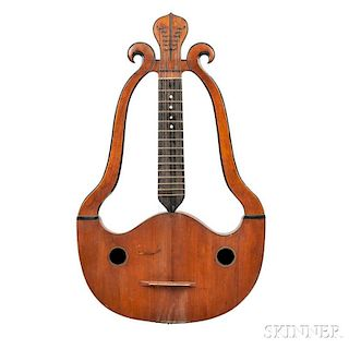 French 12-string Lyre Cittern, c. 1778