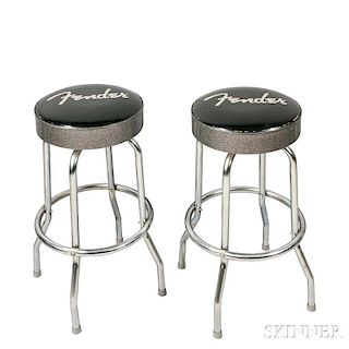 Pair of Fender Barstools