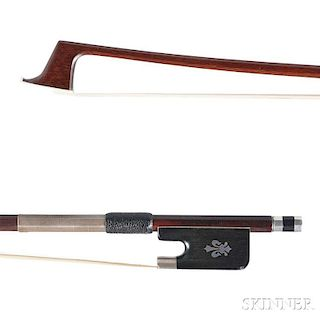 Silver-mounted Violoncello Bow, N. David Crowder