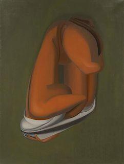 Joseph Mellor Hanson, (American, 1900-1963), Crouching Figure, 1942