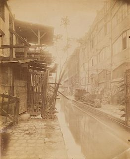 Eugene Atget, (French, 1857-1927), La Bièvre, Passage Moret, ruelle des Gobelins (aujourd'hui disparue)