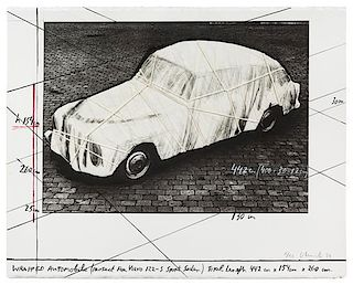 * Christo and Jeanne-Claude, (Bulgarian/American, b. 1935), Wrapped Automobile, 1984