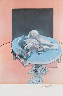 Francis Bacon, (British, 1909 - 1992), Studies of the Human Body (central panel), 1980