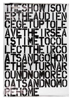 Christopher Wool and Felix Gonzalez-Torres, (20th Century), Untitled (poster), 1993 (a collaborative work by Christopher Wool