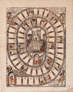 Carlo Coriolani, publisher (Italian, active Venice, c. 1640)      Il Dilettevole Gioco di Loca (The Delectable Game of the Go